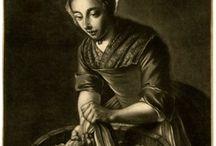 Середина 18 века жен костюм
