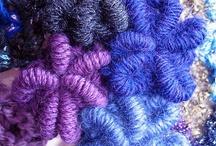 Bullion crotchet stitch