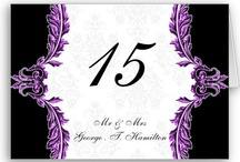 Wedding Table Numbers / custom personalized wedding table numbers, table cards, folded table number tents