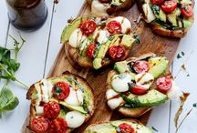 Who can resist these two: avocado and mozzarella?