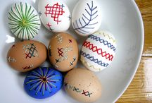 embroidered easter