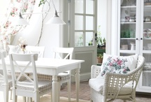 IKEA-NORDIC FARMHOUSE / Design Inspiration: a little Ikea~a little Nordic Farmhouse~a little Shabby Chic~ white palette / by 'chele