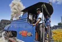 Indian Railway Dargeeling / India északkeleti részén fekszik Bengál állam felett. Delhiből vasúttal érdemes menni Siliguriig (New Jaarpaguri), Indiában a vasúti közlekedés olcsó és viszonylag biztonságos. Siliguriból indul a kisvasút fel a hegyekbe, már ha éppen üzemel.