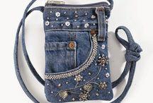 džínova taška ozdobná