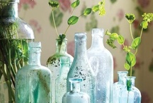 apothecary and glass bottles and jars