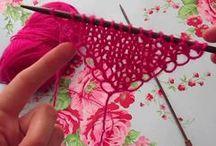 knit easy shawl
