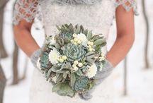 winter bridal buquet / winter bridal buquet
