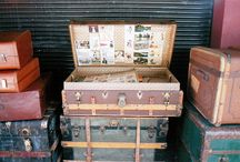 Recycled Suitcases, Crates, Trunks / by Roxanne Peterson
