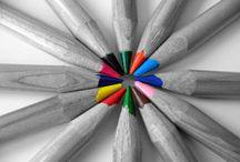 Цветное в черно-белом... color splash... / Черно-белые фотографии с цветными элементами / Black-and- white photographs with colored elements