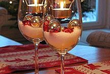wine and water glass craft