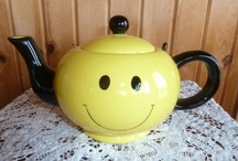 Teapots and More! / Teapots, teacups, tea accessories all on one board!
