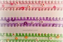 """The Flower Bundle / Create texture on your projects with our fabulous new 1"""" flower die cut ribbon."""
