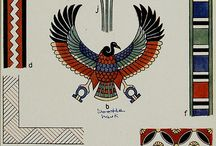 Egyptian imagery and patterns