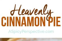 Perfect cinnamon pie