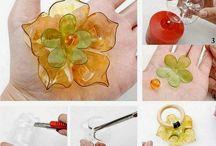 craft - plastic spoon, straw
