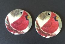 Hand Painted Jewelry / hand painted silk jewelry, watercolor jewelry