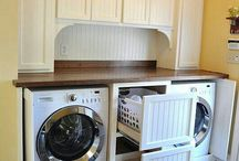 Laundry room makeover ideas love the way they did cabinets.