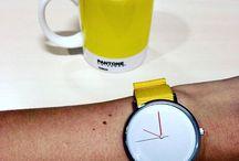 Yellow  Model / Aciigo Minimalist watches designed in Paris with Love. Be Mad, Be Elegant. Free delivery worldwide. www.aciigo.com