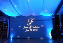 Wedding Monograms / Vinyl and Projected Monograms for the wall and dance floor