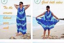 plážový šátek-vázání