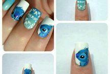 Stitch nail art