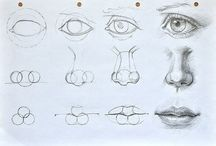 Drawing - facial features
