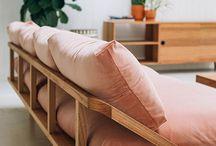 sofas de madeira