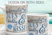 Coastal Home Goods / Coastal decor, coastal coffee mugs, and housewares. Find more in my Etsy shop ► https://www.etsy.com/shop/CoastalFocusArt?section_id=21225152 #coastaldecor #coastalmugs