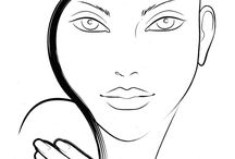 face charts & templates