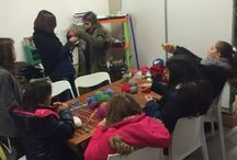 Teaching kids to crochet and knit