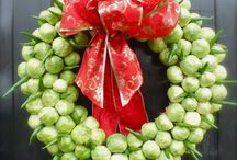 Edible Christmas Wreath! / For those with too many brussel sprouts on their hands.