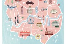illustrated maps-uk