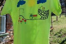 Malovaná trička - moje práce