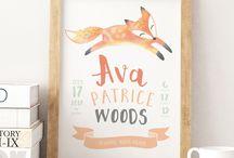 Pastel Woodland Baby Nursery Room Decor Inspiration