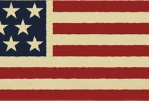 American Pride / Showing American pride and a patriotic spirit with our USA made wood signs!