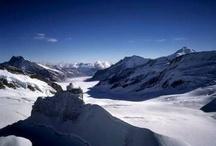 swiss alps winter holiday