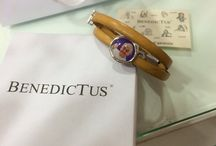 benedictus / bracciale di pelle con certificato di garanzia disponibile in diverse taglie uomo e donna