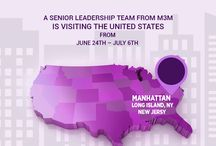 M3M in USA / M3M is visiting the USA for a close-group presentation to a selective audience.