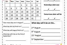 Mi first English calendar.
