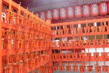 Le Japon en orange / Promenade dans les temples japonais sur le thème des couleurs oranges