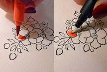 inkleuren : marker en blender-pen