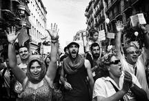 Protesta y protestantes.