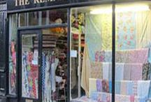 Fabric and wool shops
