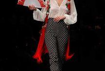 trajes de pantalón flamencos
