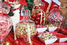 Christmas Candy Buffet / Temptation creates some beautiful Christmas Candy Buffets for your sweet enjoyment!