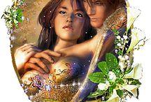 Fantazie lásky muže a ženy.