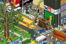 Hip Pop // Pop and Graphic Art / Pop-art, cartoons, graphics. Vibrant colours, crisp lines and strong shapes.