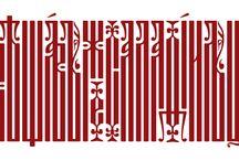 Slavonic calligraphy