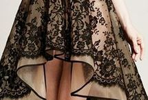 black cream lace dress