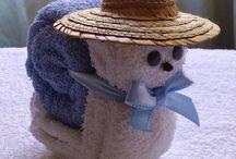 figuras en toallas